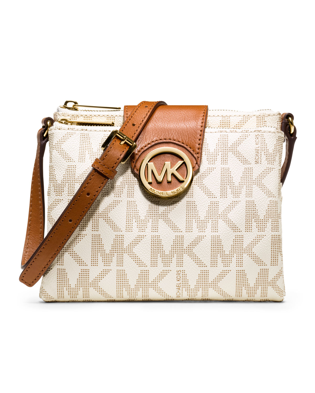 224b5897d88b89 MICHAEL Michael Kors Fulton Large Logo Crossbody, Vanilla | Neiman ...