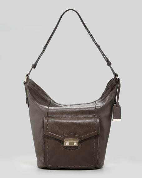 Zoe Bucket Bag, Gray
