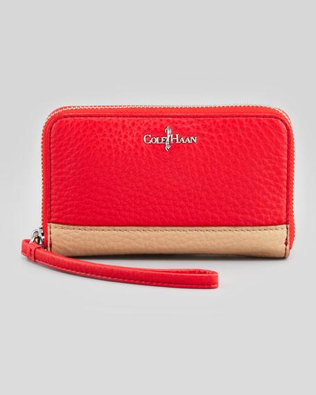 Crosby Leather Wristlet, Cherry