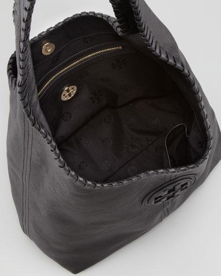 Marion Whipsched Hobo Bag Black