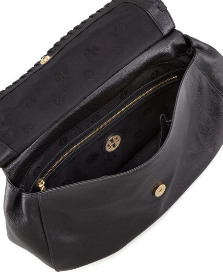 Marion Leather Saddle Bag, Black