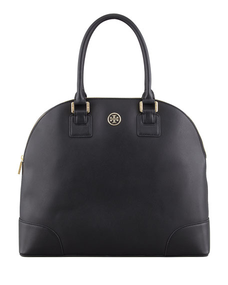 Robinson Dome Satchel Bag, Black