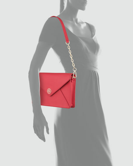 Robinson Envelope Clutch Bag, Red