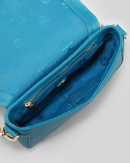 Robinson Mini Chain-Strap Bag, Turquoise