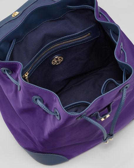 Robinson Nylon Backpack, Purple/Blue