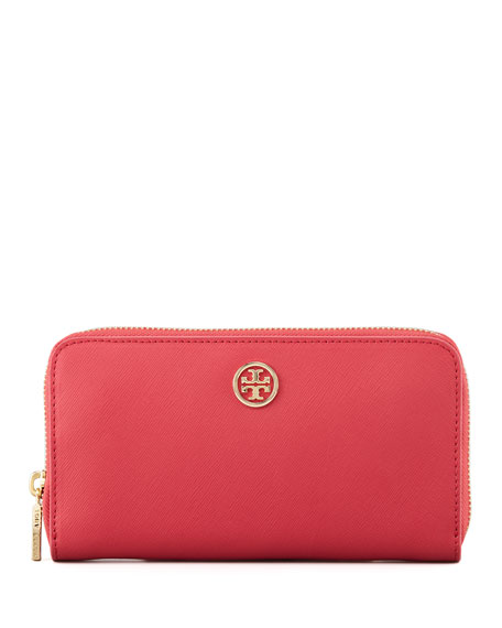 Robinson Zip Continental Wallet, Red