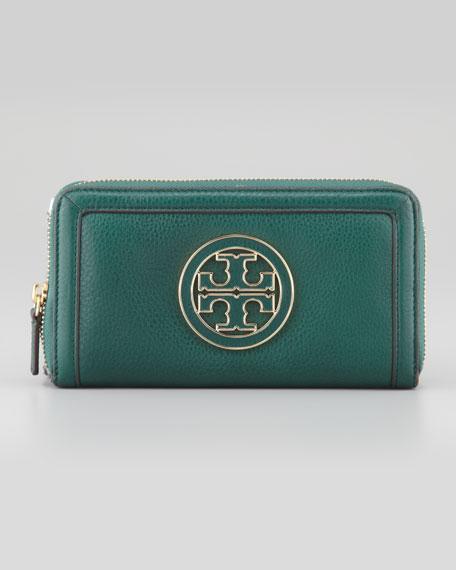 Amanda Continental Zip Wallet, Green