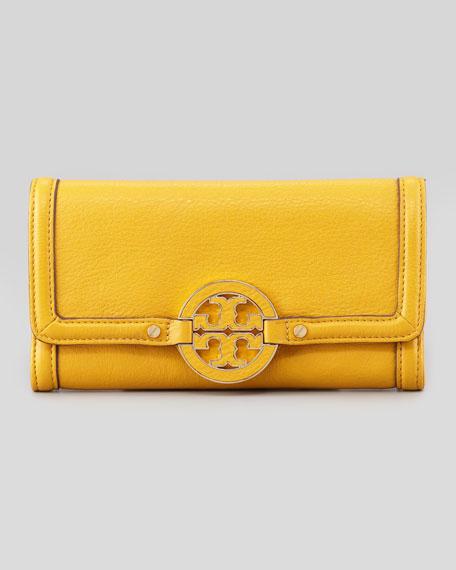 Amanda Continental Envelope Wallet, Yellow