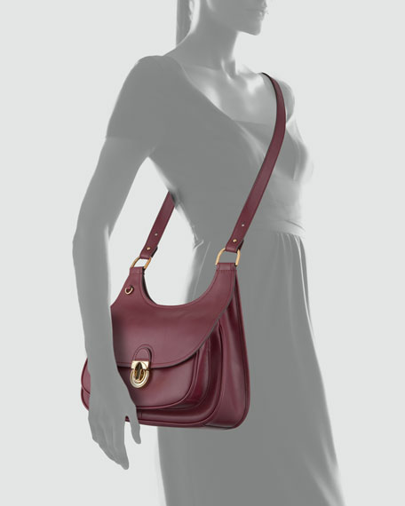 Saddalrina Large Saddle Bag, Plum
