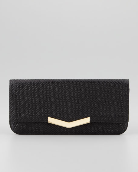 Gya Embossed Clutch Bag, Black