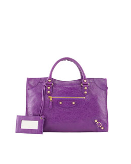 Balenciaga Giant 12 Golden City Bag, Ultraviolet Purple