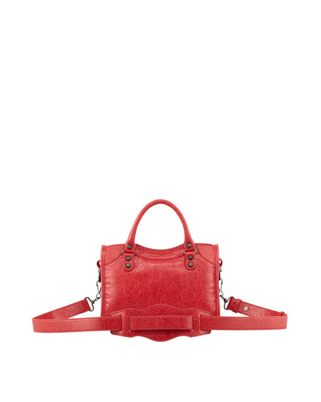 Classic Mini City Bag, Rouge Cardinal