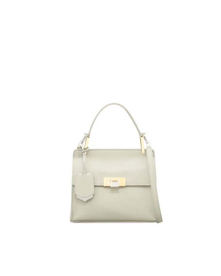 Le Dix Cartable Flap Satchel Bag, Ivory