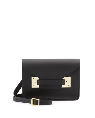 Mini Envelope Crossbody Bag, Black
