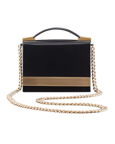B Brian Atwood Ava Chain Strap Leather