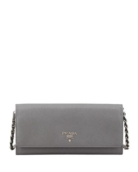 Prada Saffiano Portafoglio Wallet With Sling
