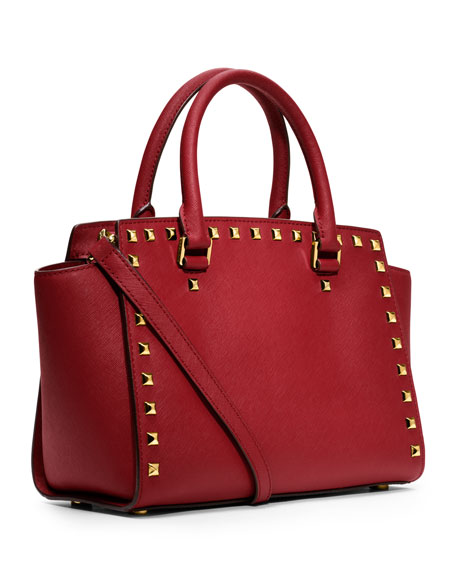 Medium Selma Studded Satchel