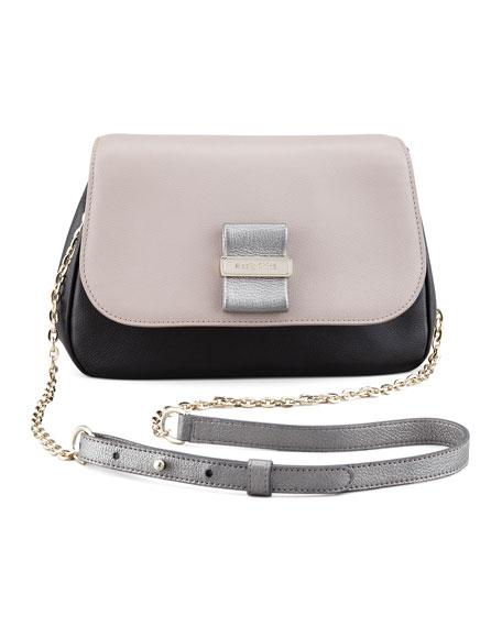 Rosita Chain Crossbody Bag, Black/Gray