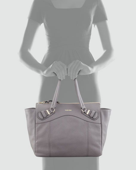 Mattie East-West Tote Bag, Gray
