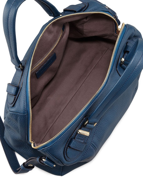 Mattie Leather Handbag, Navy