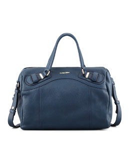 See by Chloe Mattie Leather Handbag, Navy