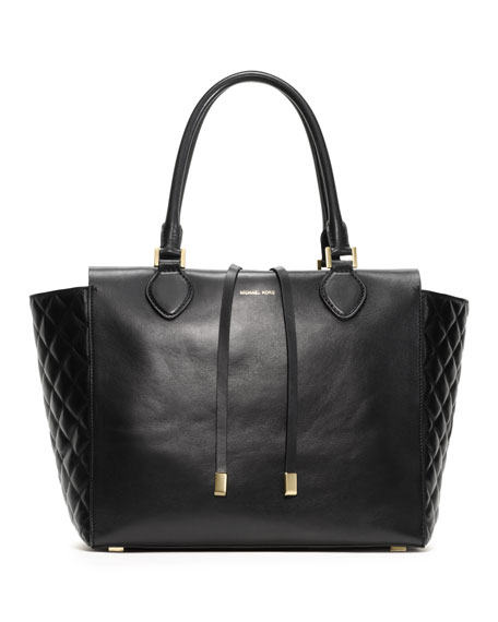 Large Miranda Quilted-Side Tote