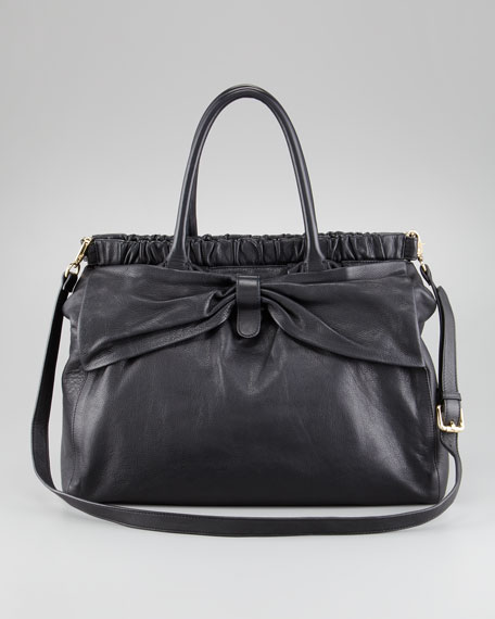 Satchel with Shoulder Strap, Black