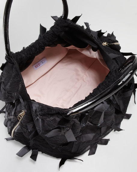 Bow Balloon Bag, Black