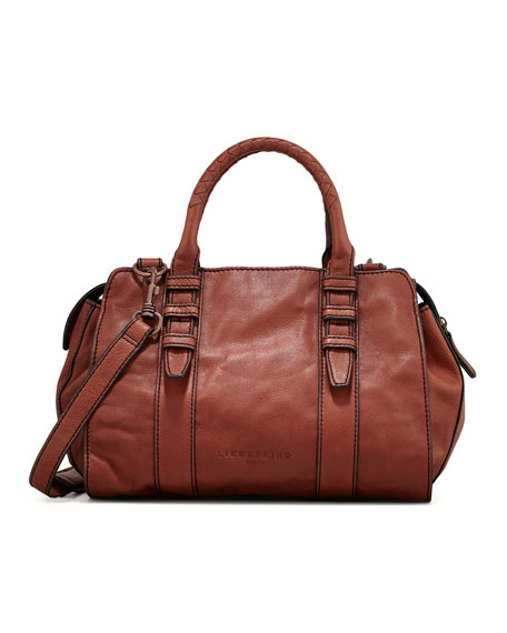 Marylin Botalato Leather Tote Bag, Scotch