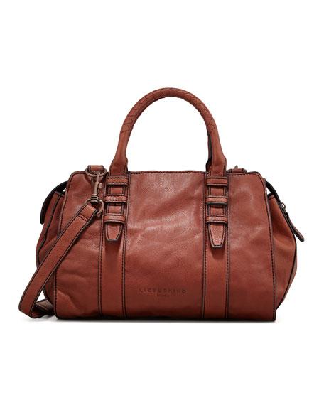 Marylin Botalato Leather Tote Bag, Scotch