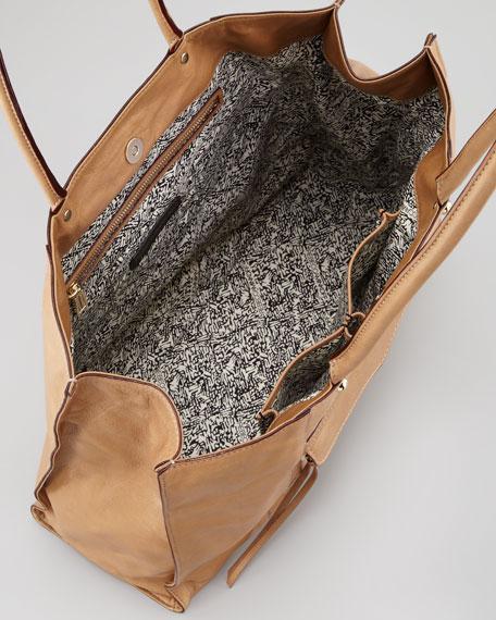 MAB Leather Tote Bag, Fatigue Taupe