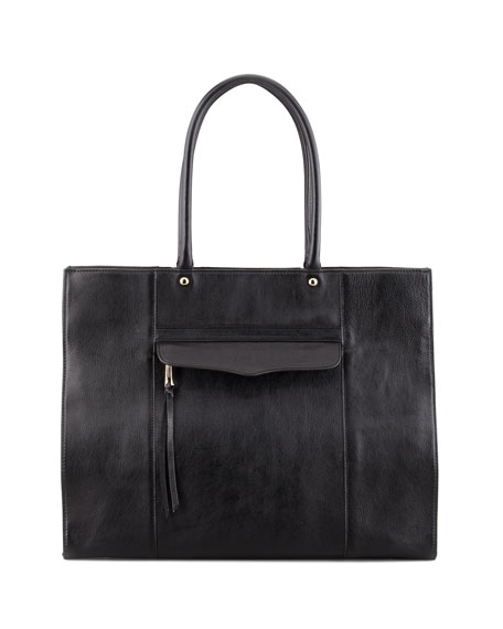 MAB Leather Tote Bag, Black