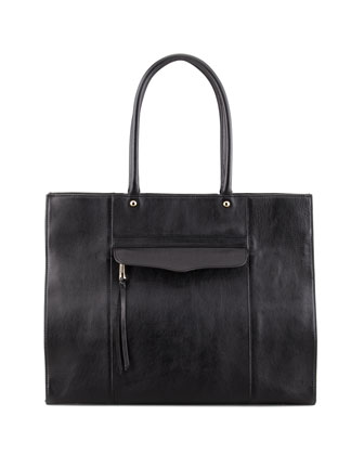MAB Leather Tote Bag, Black