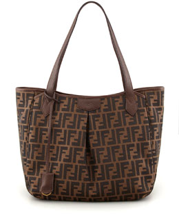 Fendi Zucca Grande Shopping Tote Bag, Brown