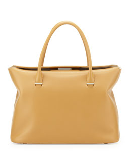 THE ROW The Carry All Leather Tote Bag, Honey