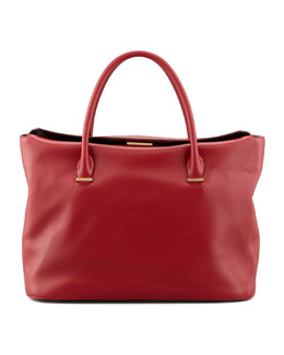 THE ROW The Carry All Leather Tote Bag, Ruby