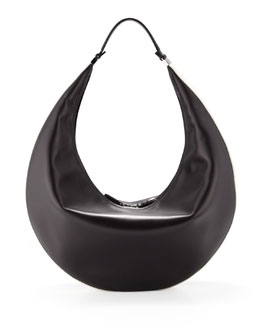 THE ROW Bicolor Zip Hobo Bag, Black/White