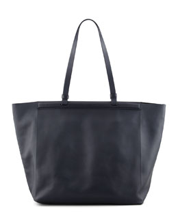 THE ROW The Shopper Calfskin Tote Bag, Navy