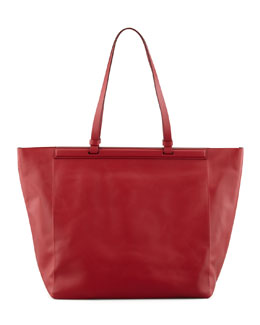 THE ROW The Shopper Calfskin Tote Bag, Ruby