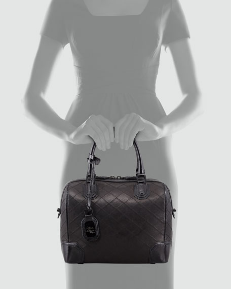 Olivia Quilted Leather Bag, Black
