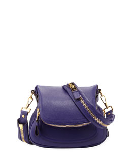 Tom Ford Jennifer Medium Leather Crossbody Bag, Purple