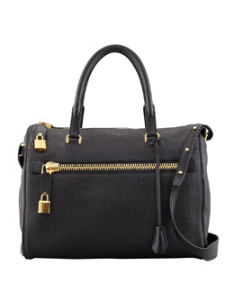 Tom Ford Freya Pebbled Leather Satchel Bag
