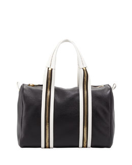 Tom Ford Amber Pebbled Leather Medium Boston Bag