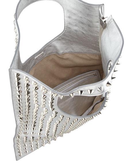 Alix Studded Leather Padlock & Zip Shoulder Bag