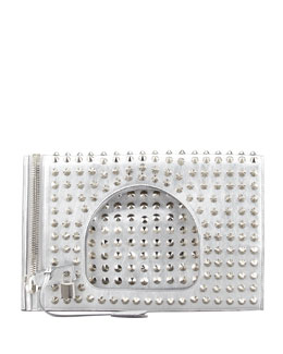 Tom Ford Alix Studded Leather Padlock & Zip Shoulder Bag