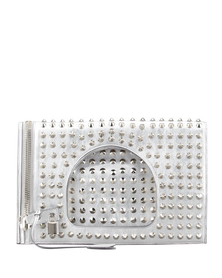 Alix Studded Leather Padlock & Zip Shoulder Bag