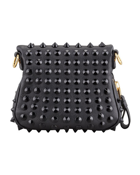 Jennifer Studded Leather Mini Crossbody Bag