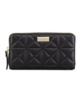 kate spade new york sedgwick place lacey zip wallet, black