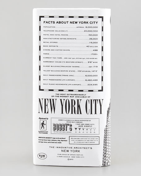 kate spade new york architect's map of new york city clutch bag