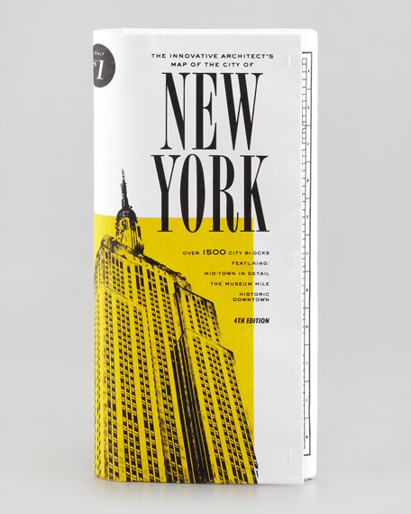 architect's map of new york city clutch bag